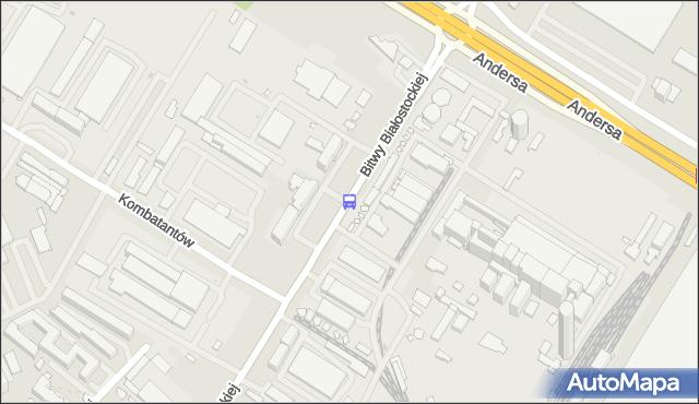 Przystanek Bitwy Białostockiej/Bank. BKM - Białystok (google) na mapie Targeo