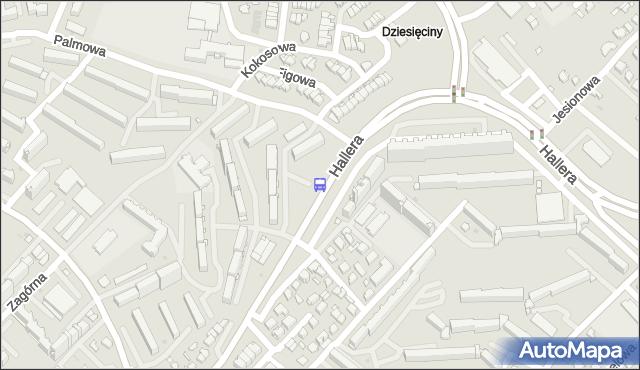 Przystanek Gen. J.Hallera/Palmowa. BKM - Białystok (google) na mapie Targeo