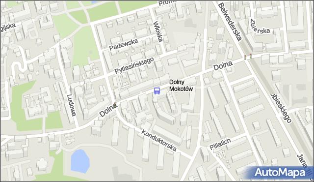 Przystanek KONDUKTORSKA 01. ZTM Warszawa - Warszawa na mapie Targeo