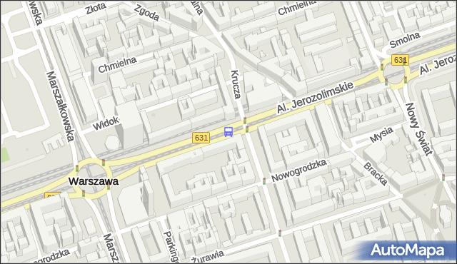 Przystanek Krucza 05. ZTM Warszawa - Warszawa na mapie Targeo