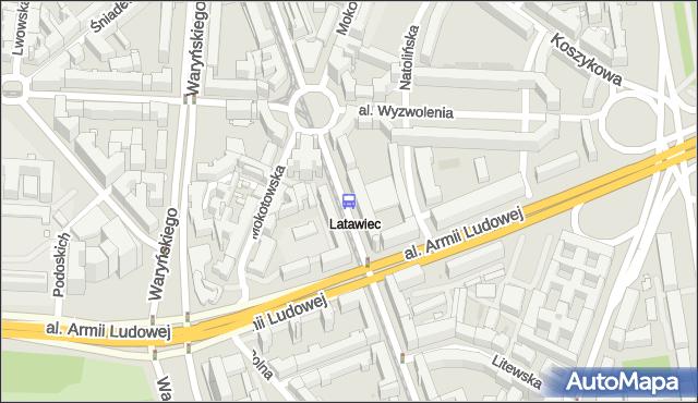 Przystanek pl.Zbawiciela 02. ZTM Warszawa - Warszawa (id 701002) na mapie Targeo