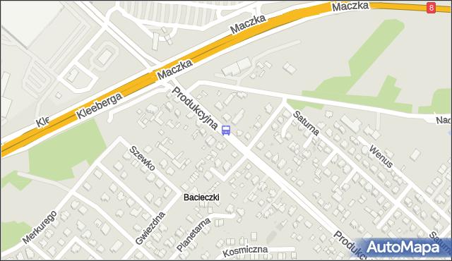 Przystanek Produkcyjna/Saturna. BKM - Białystok (google) na mapie Targeo