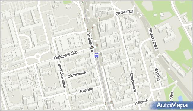 Przystanek RAKOWIECKA 06. ZTM Warszawa - Warszawa na mapie Targeo