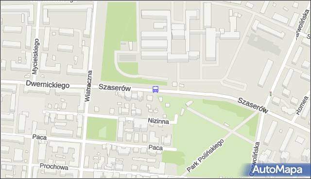 Przystanek SZASERÓW-SZPITAL 01. ZTM Warszawa - Warszawa na mapie Targeo