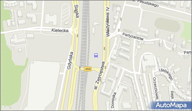 Przystanek Wzgórze Św. Maksymiliana SKM. ZKMGdynia - Gdynia na mapie Targeo