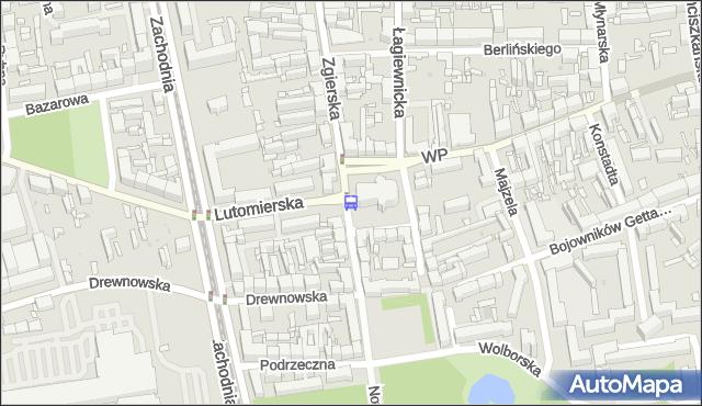 Przystanek Zgierska - pl. Kościelny. MPKLodz - Łódź na mapie Targeo