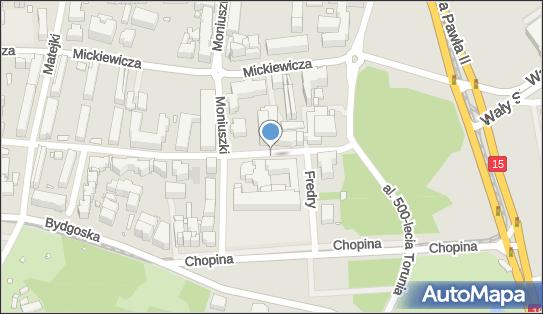 Przed szpitalem zakaźnym, Krasińskiego Zygmunta, Toruń 87-100 - Bezpłatny - Parking