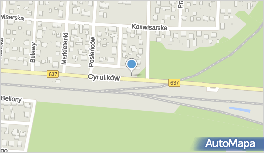 Kontrola Policji, pomiar prędkości, Cyrulików637, Warszawa 04-402, 04-406, 04-467 - Kontrola Policji, pomiar prędkości