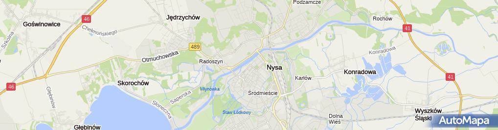 Zdjęcie satelitarne Auto Błysk