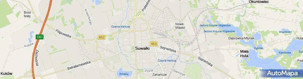 Zdjęcie satelitarne Bank Spółdzielczy w Suwałkach
