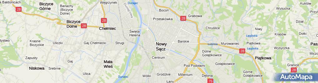 Zdjęcie satelitarne Oddział dla dzieci
