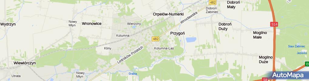 Zdjęcie satelitarne Przedsiębiorstwo Handlowo - Usługowe Alpol Mirosław Prądzyński
