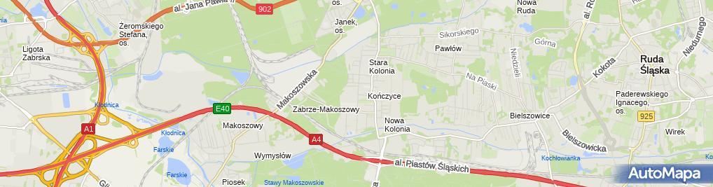 Zdjęcie satelitarne RafTeleKom Teleinformatyka i Systemy Zabezpieczeń Rafał Wypior
