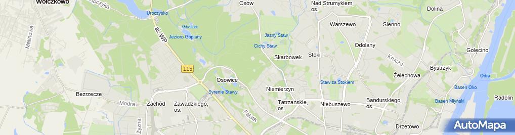 Zdjęcie satelitarne Młodzieżowy Ośrodek Socjoterapii im. Św. Brata Alberta