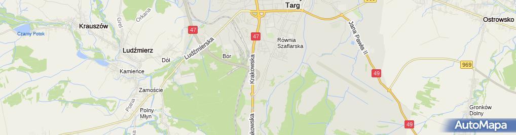 Zdjęcie satelitarne Castorama Nowy Targ