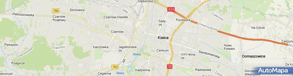 Zdjęcie satelitarne Pogrom kielecki