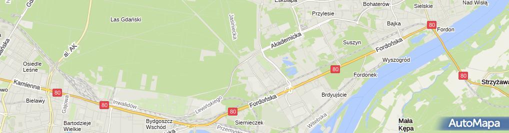 Zdjęcie satelitarne Decathlon Bydgoszcz Fordon