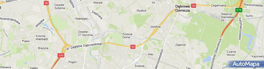 Zdjęcie satelitarne Decathlon Sosnowiec