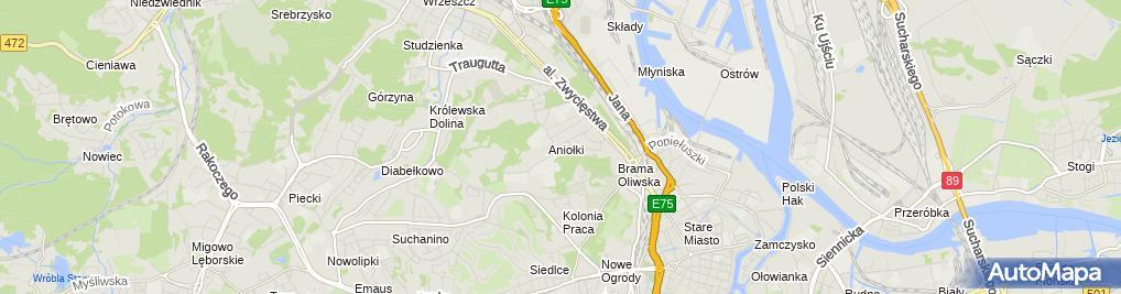 Zdjęcie satelitarne Gdański Uniwersytet Medyczny (GUMED)