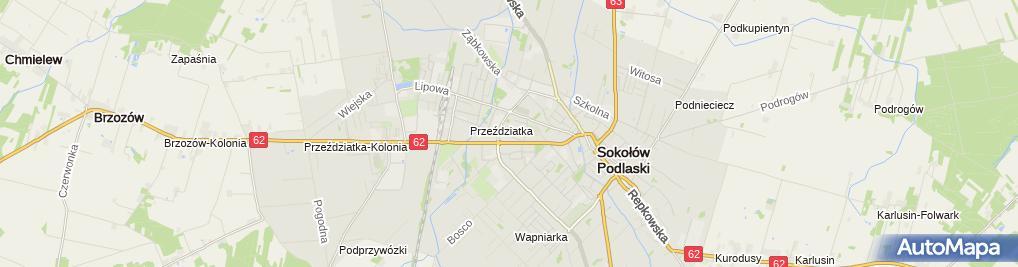 Zdjęcie satelitarne Publiczne Nr1 im. Pawła Kamińskiego