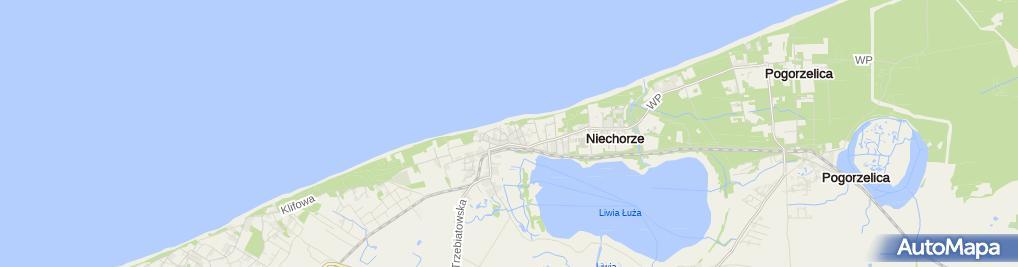 Zdjęcie satelitarne OW Niechorze Dom Wczasowy Grażyna
