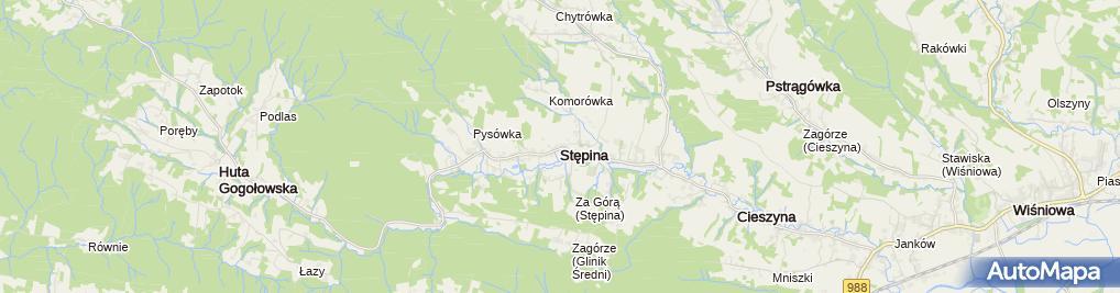 Zdjęcie satelitarne Stępina