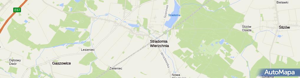 Zdjęcie satelitarne Stradomia Wierzchnia