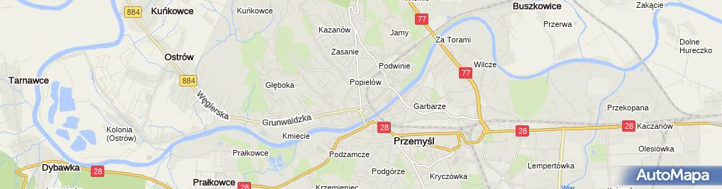 Zdjęcie satelitarne Adwokat Przemyśl Kancelaria RESLEGAL