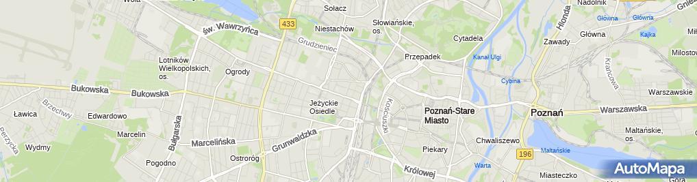 Zdjęcie satelitarne Komisariat Policji Jeżyce