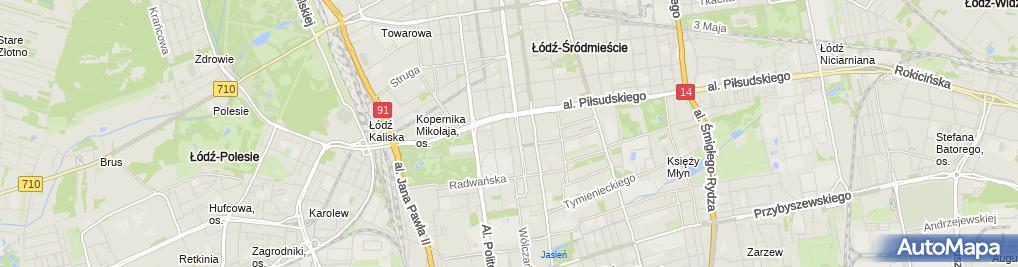 Zdjęcie satelitarne FUP Łódź 4