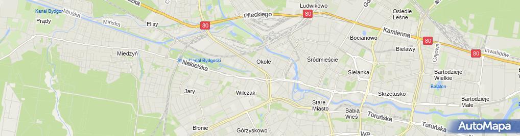 Zdjęcie satelitarne UP Bydgoszcz 4