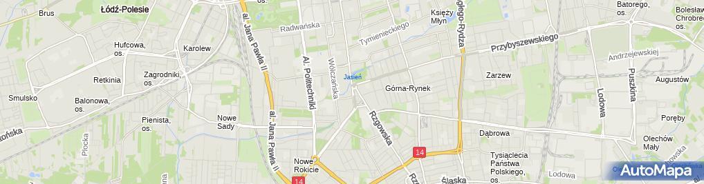 Zdjęcie satelitarne UP Łódź 7