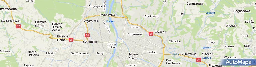 Zdjęcie satelitarne Sądeczanin
