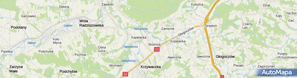 Zdjęcie satelitarne Mechanika Pojazdowa Mariusz Miętka