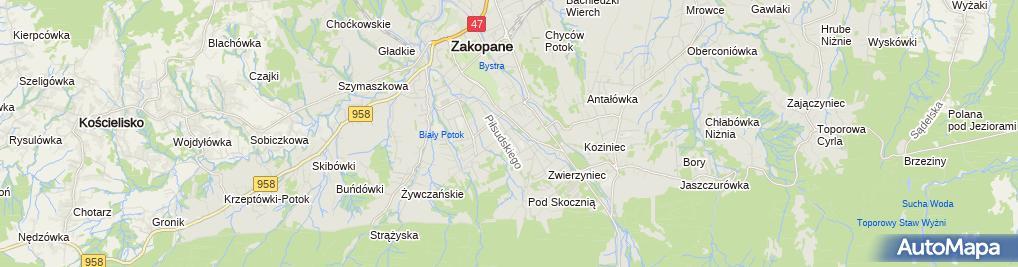Zdjęcie satelitarne Zakopiańskie Stowarzyszenie Kulturalne