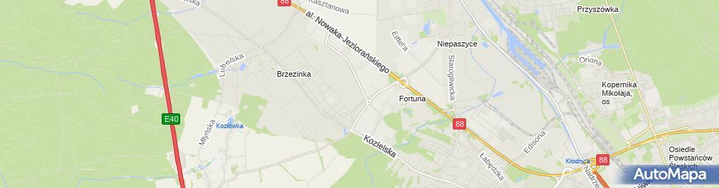 Zdjęcie satelitarne Lidl Magazyn