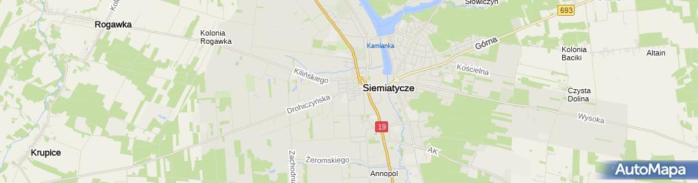 Zdjęcie satelitarne PSS Społem