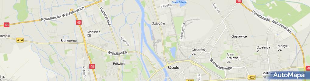 Zdjęcie satelitarne Hurtownia Rowerów