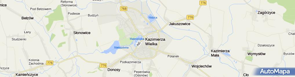 Zdjęcie satelitarne Podwyższenia Krzyża Świętego