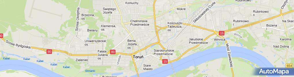 Zdjęcie satelitarne Sąd Rejonowy - XII Wydział Karny