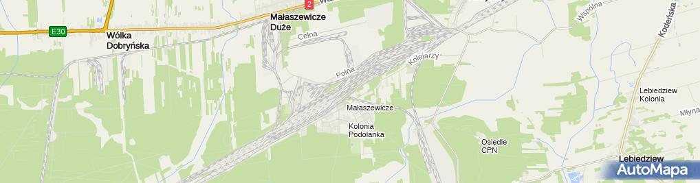 Zdjęcie satelitarne Małaszewicze