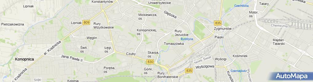 Zdjęcie satelitarne Stokrotka