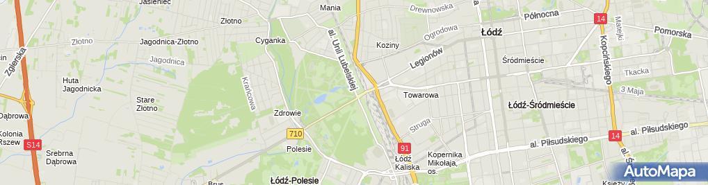 Zdjęcie satelitarne Strzelnica LOK