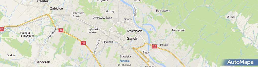 Zdjęcie satelitarne Podkarpacka Szkoła Przedsiębiorczości