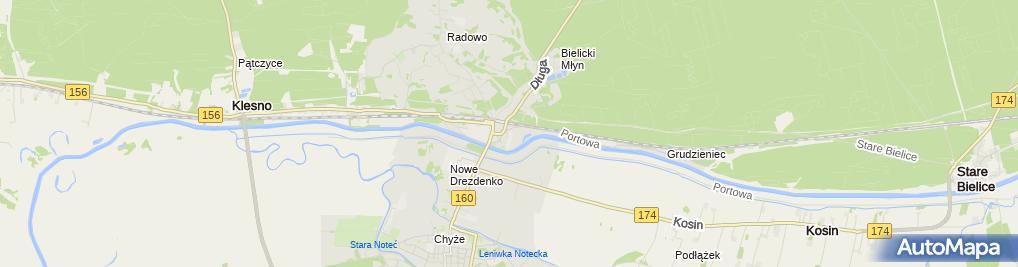 Zdjęcie satelitarne nr 3 Zespołu Szkół im. Henryka Sienkiewicza
