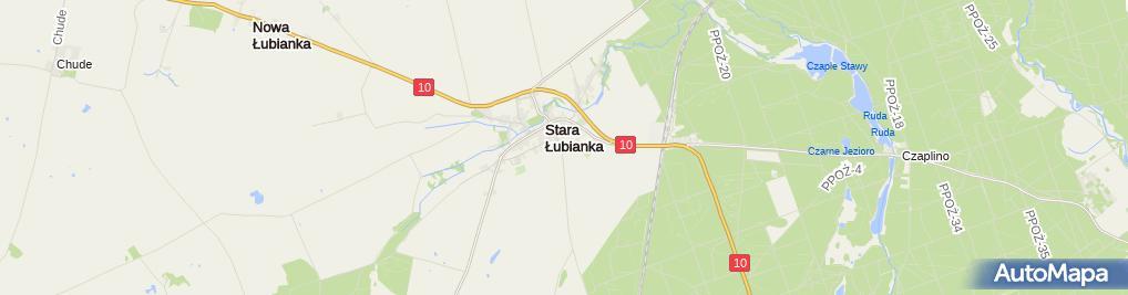 Zdjęcie satelitarne w ZS w Starej Łubiance