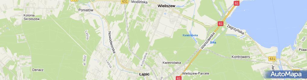 Zdjęcie satelitarne Mazowiecki Szpital Onkologiczny