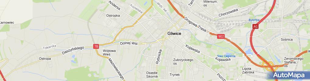 Zdjęcie satelitarne Szpital Wielospecjalistyczny