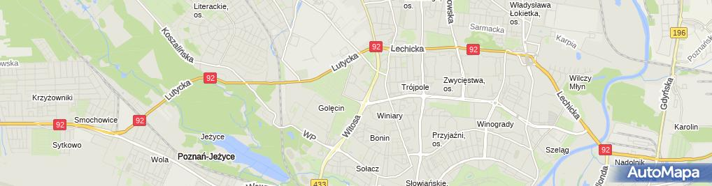 Zdjęcie satelitarne Szpital ZOZ MSWiA im. L. Bierkowskiego