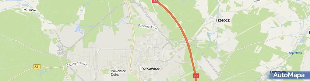 Zdjęcie satelitarne Uniwersytet, Szkoła Wyższa, Polkowicki Uniwersytet Trzeciego Wi